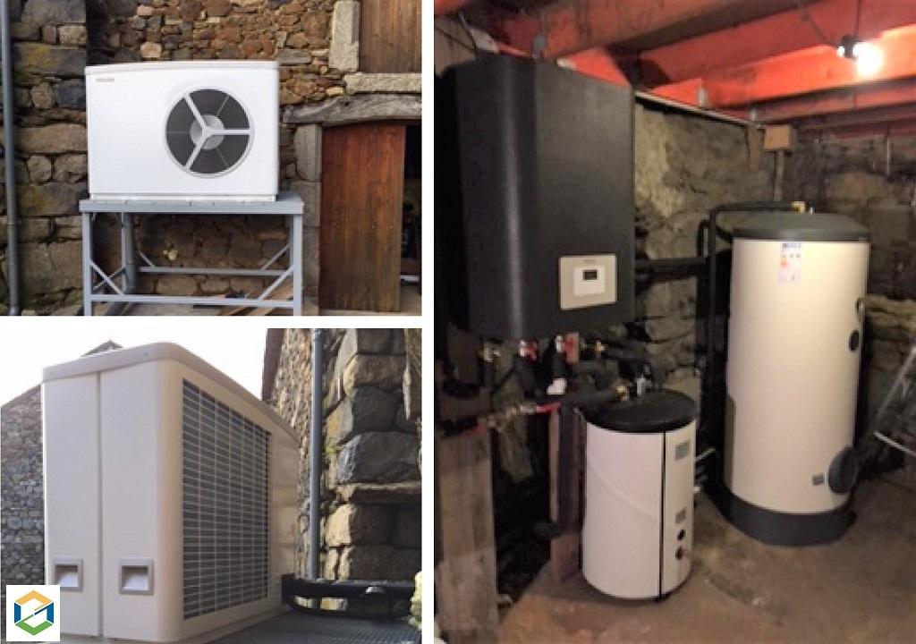 Installation de pompe à chaleur AIR - EAU Stiebel Eltron