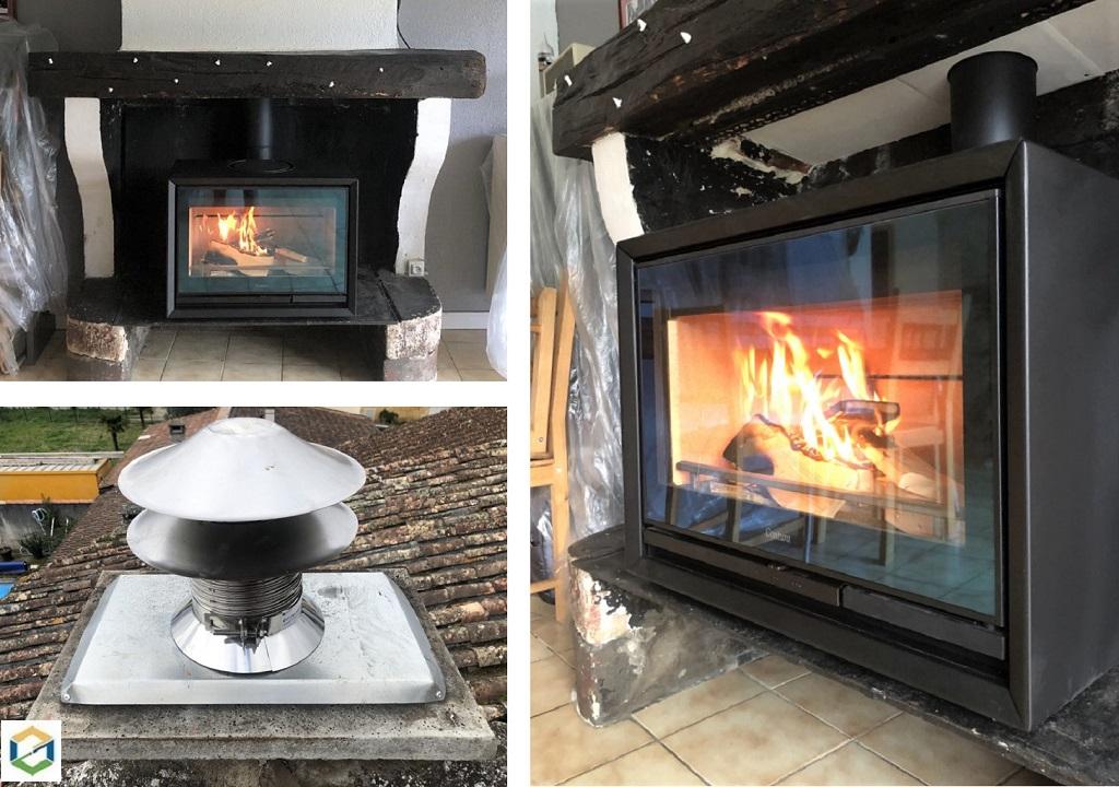 installation-par-un-artisan-rge-d-un-poele-a-bois-dans-une-cheminee-ouverte-gironde-33