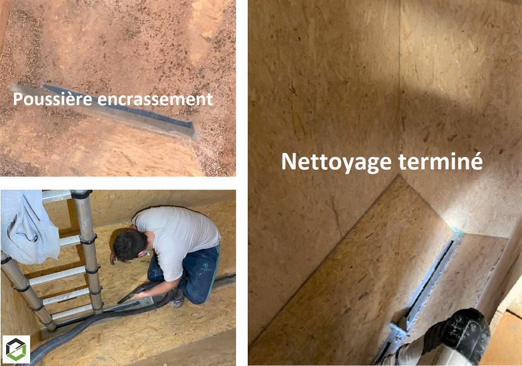 Nettoyage d'un silo de stockage pièce de réserve pour des pellets (granulés de bois)