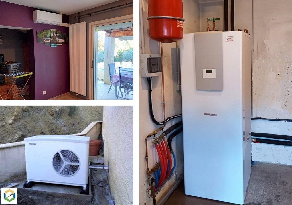 Création d'un chauffage central sur PAC air/eau STIEBEL