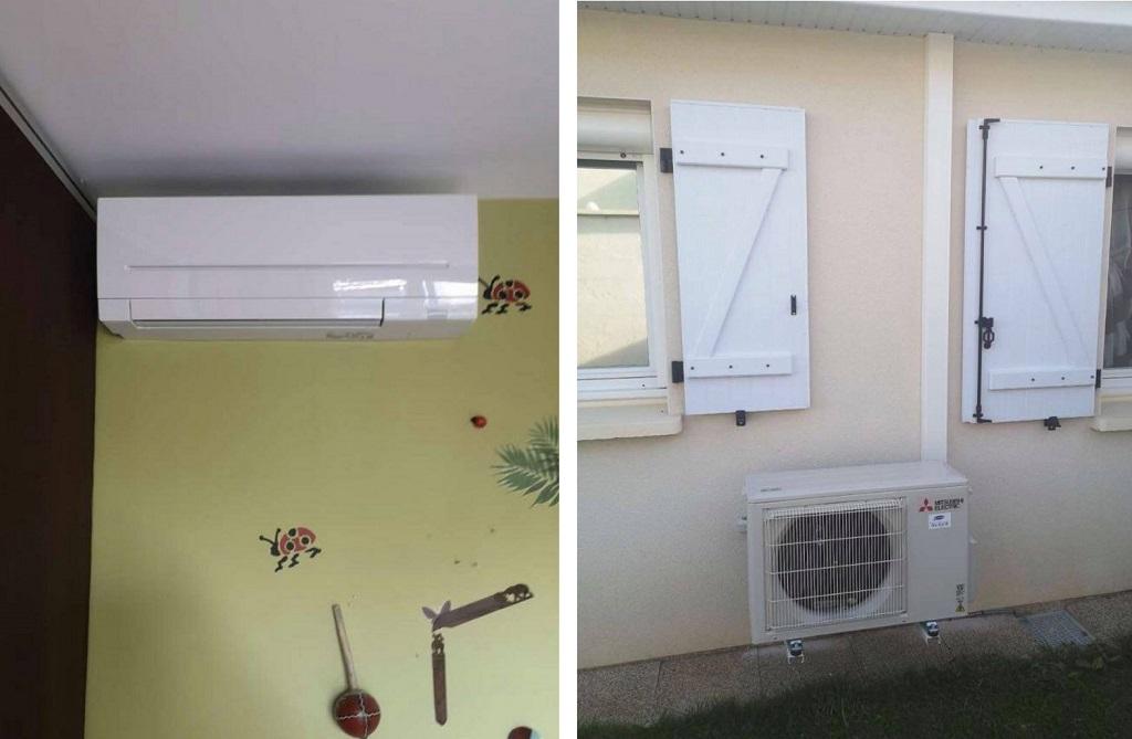Installation d'une pompe à chaleur Air/Air Mitsubishi Electric