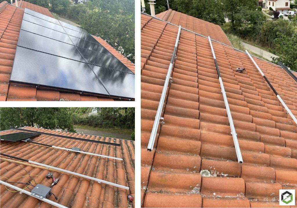 Pose de panneaux solaires photovoltaïques
