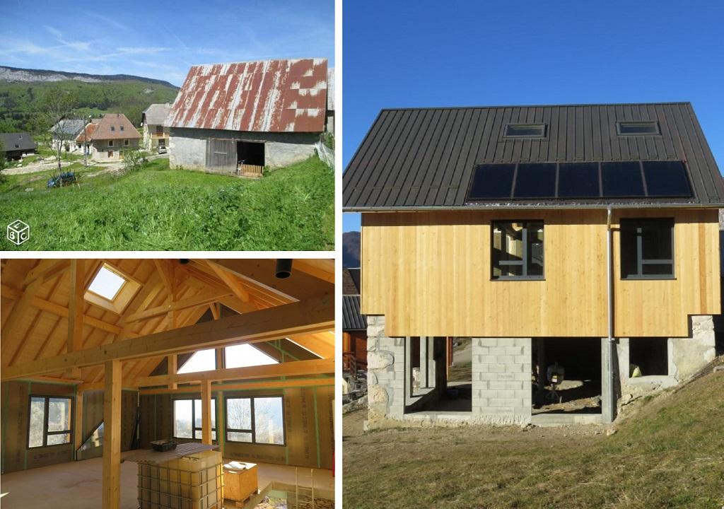Transformation d'une grange en habitation, Savoie à Entremont-le-vieux (73)-Savoie (73)