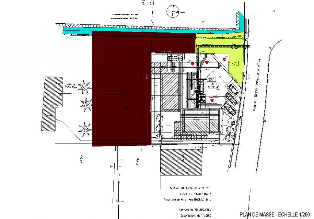 Architecte - Construction d'un cabinet dentaire et maison d'habitation à Villemoirieu en Isère