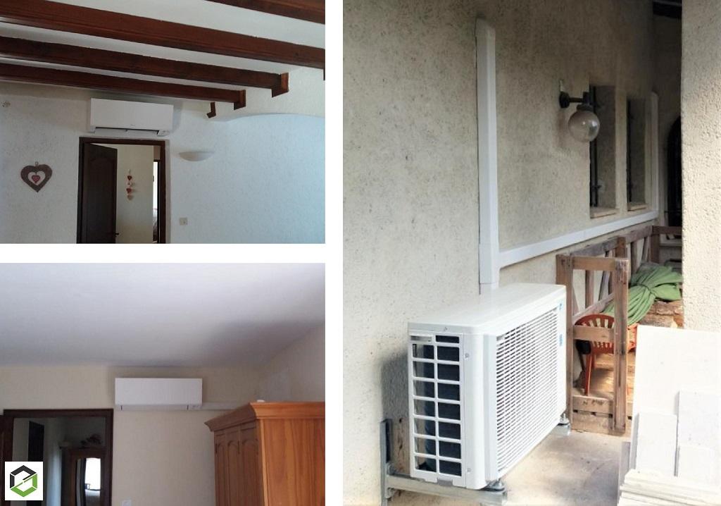 Installation d'une climatisation Daikin