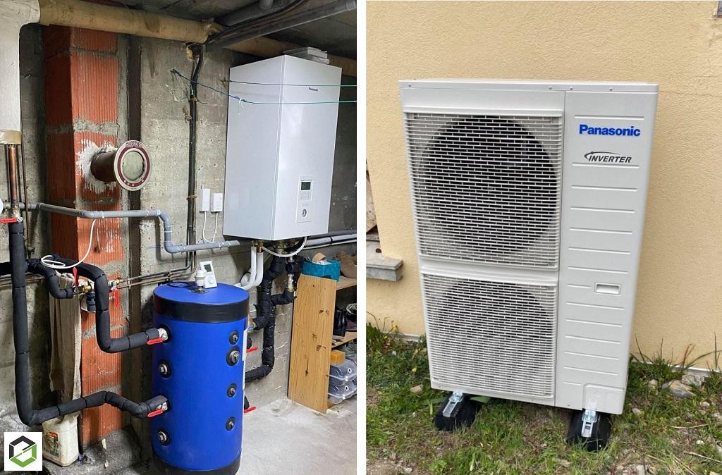 Installation pompe à chaleur air eau PANASONIC - Installateur RGE QUALIPAC Pompe à chaleur