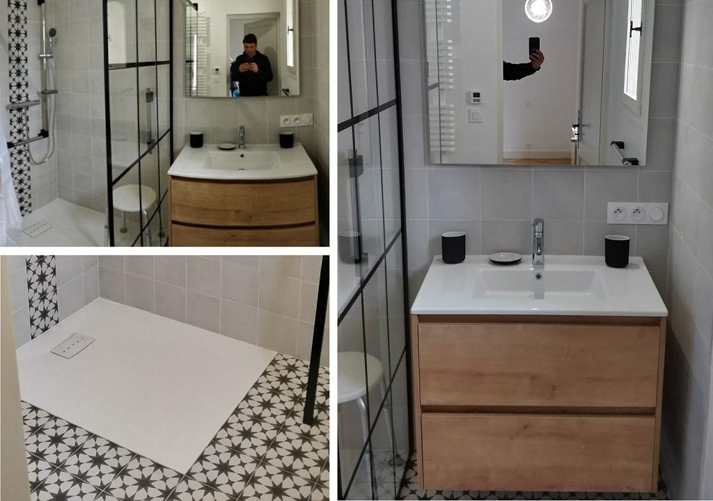 Création d'une salle de bain PMR