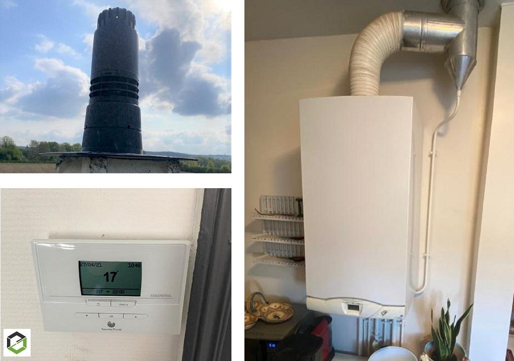Remplacement chaudière gaz par chaudière gaz à condensation Saunier Duval