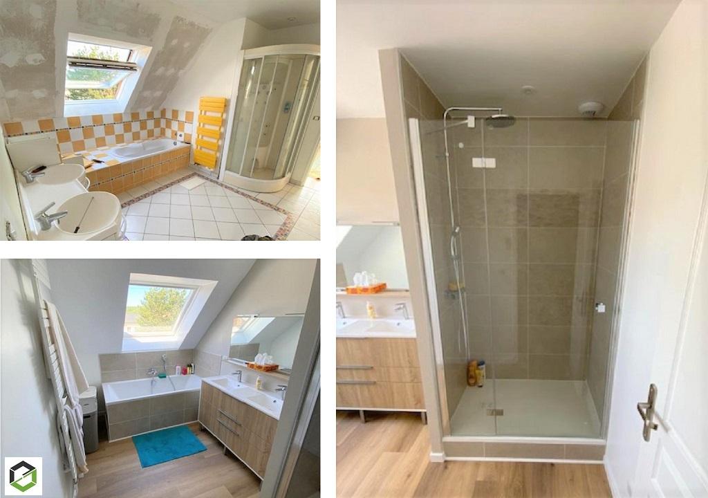 Rénovation totale et création de deux salles de bains