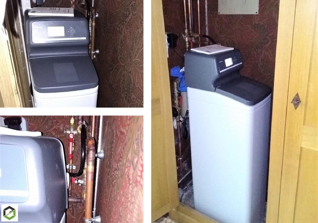 ENTREPRISE RGE - Installation d'un adoucisseur d'eau hybride VIESSMANN à charbon actif