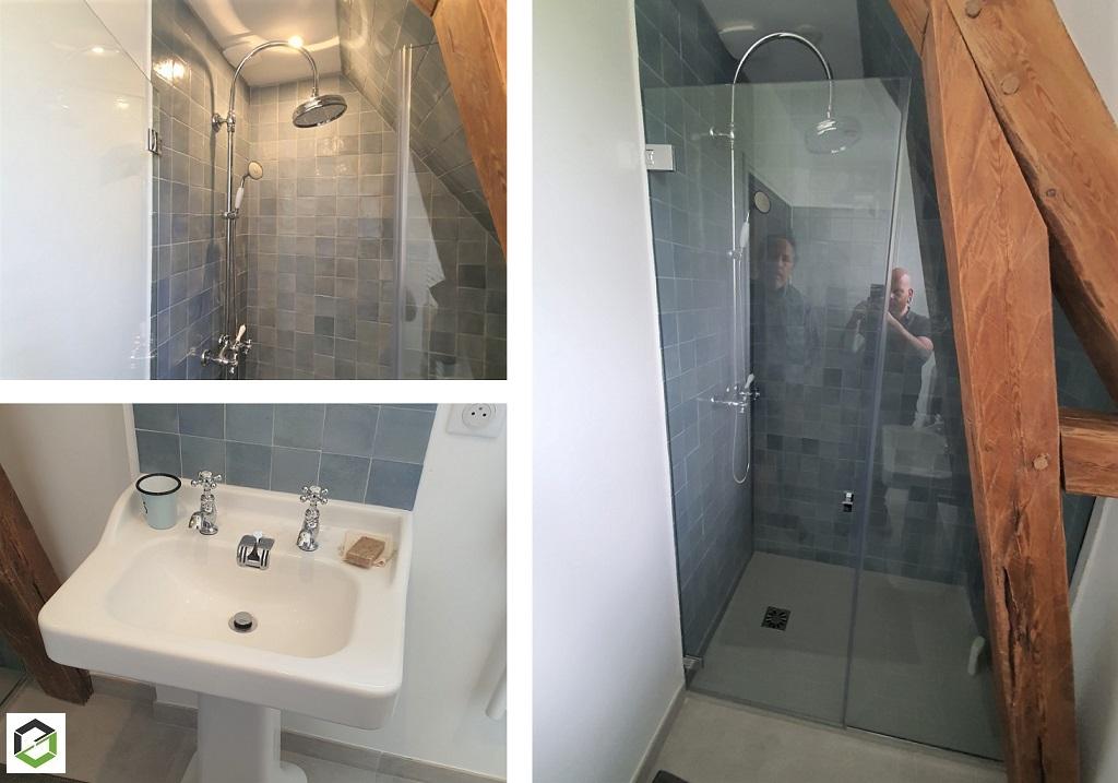PLOMBIER RGE - Création d'une salle de bain au deuxième étage d'une maison