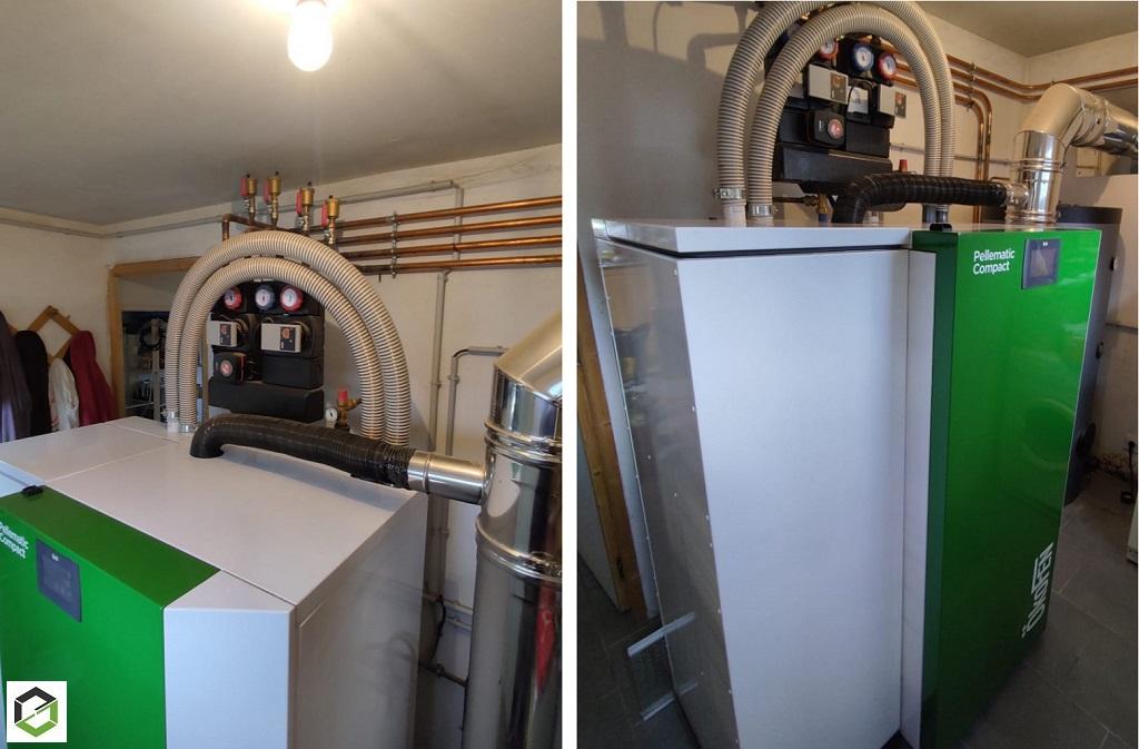 CHAUFFAGISTE RGE QUALIBOIS - Installation d'une chaudière à pellets PELLEMATIC COMPACT en Normandie