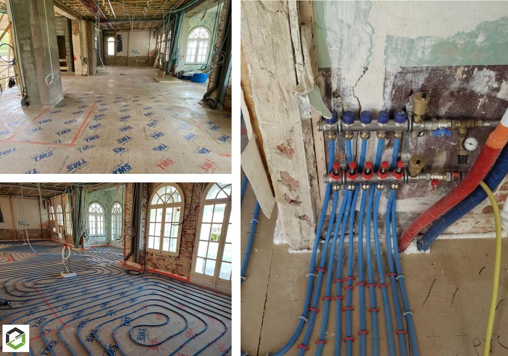 ENTREPRISE RGE QUALIGAZ - Installation d'un plancher chauffant sur une villa en rénovation