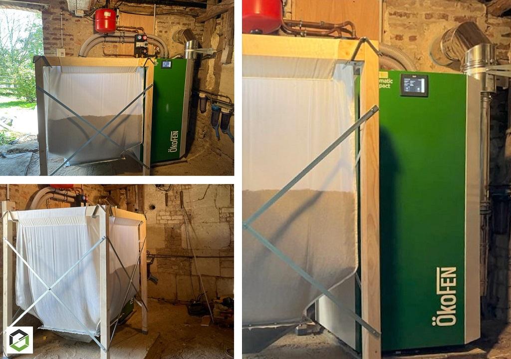 ENTREPRISE PLOMBERIE CHAUFFAGE RGE QUALIBOIS - Installation Chaudière à granulés PELLEMATIC compact dans une maison normande