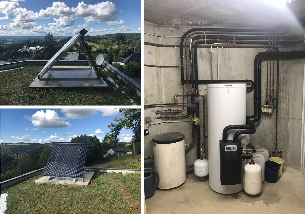 Installation d'un chauffe eau solaire Viessmann