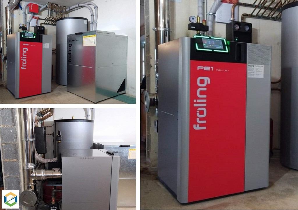 Installation d'une chaudière à granulés FROLING PE1 Unit 20kw