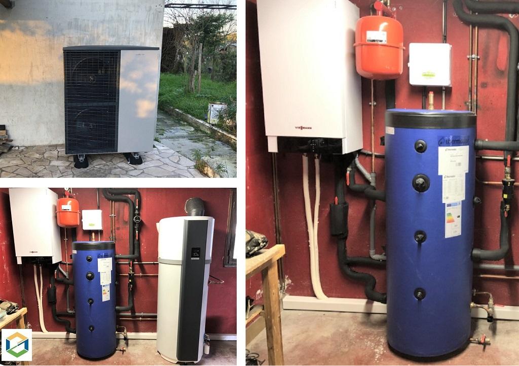 Installation d'une pompe à chaleur et pose d'un chauffe-eau thermodynamique