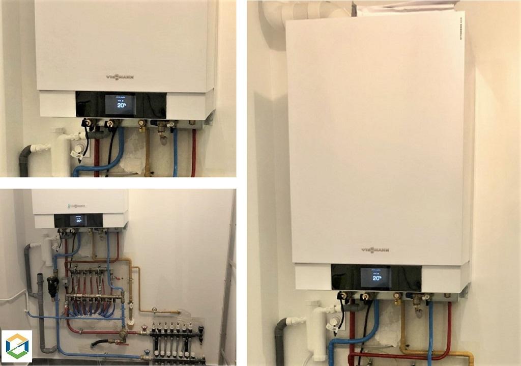 Installation chaudière gaz THPE (très haute performance énergétique)