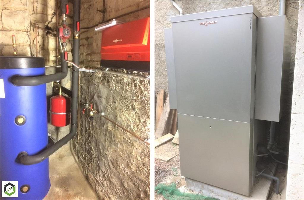 Installation d'une pompe à chaleur Air/eau vitocal 350 Viessmann