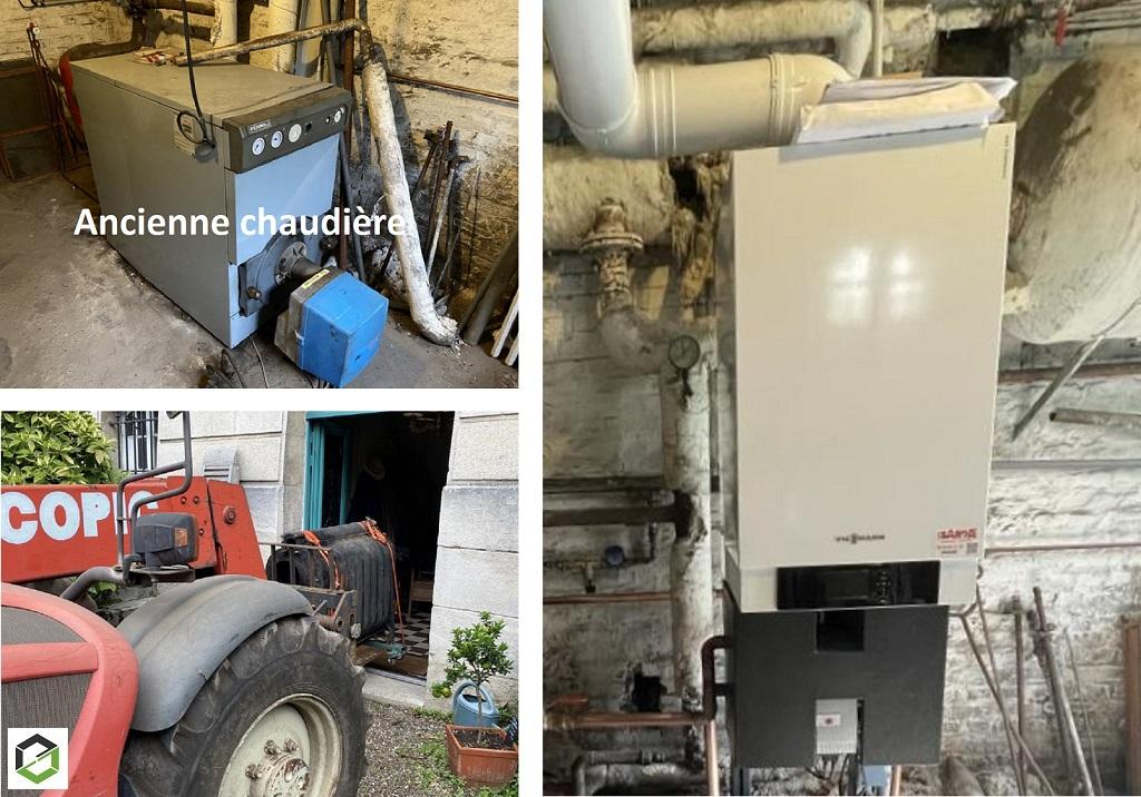 Entreprise RGE - installation d'une chaudière gaz VIESSMANN
