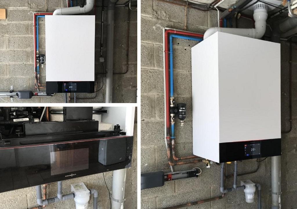 Professionnel RGE remplacement d'une chaudière gaz par une chaudière à condensation Viessmann Vitodens 222-W