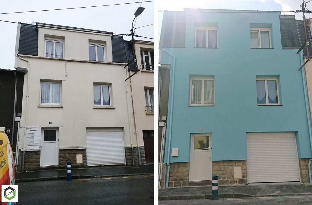Entreprise RGE - Isolation thermique par l'extérieur finition enduit sur Brest