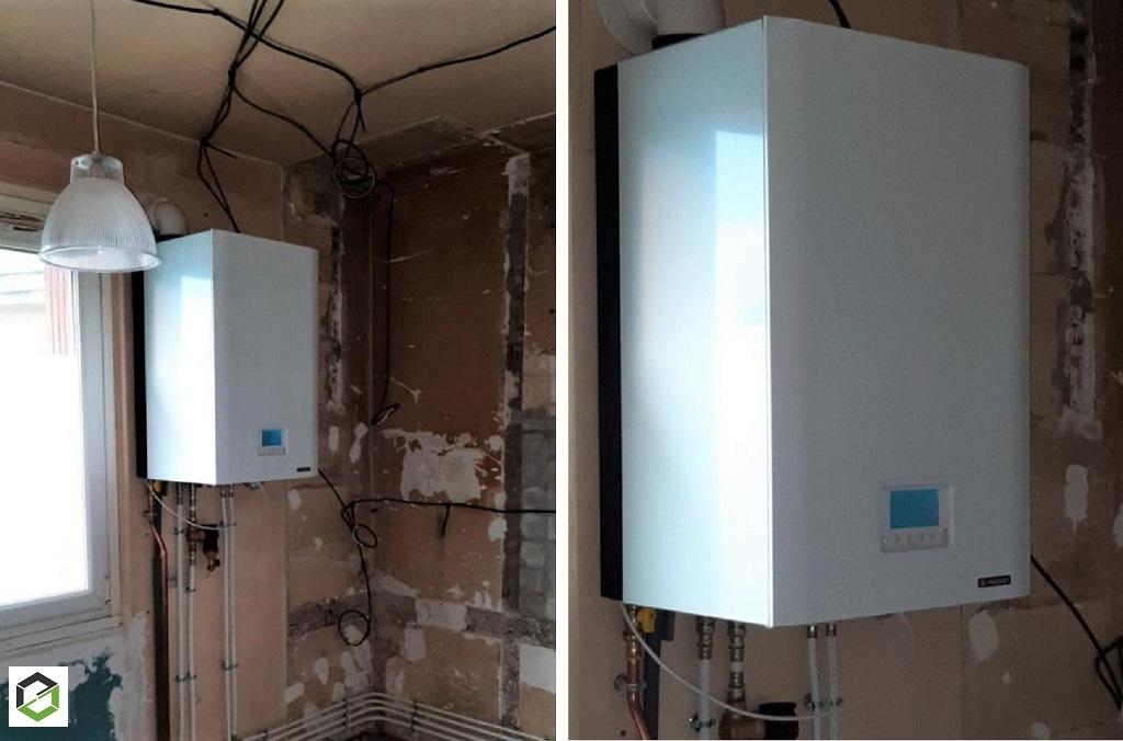 installation Chaudiere Condensation Frisquet 25 KW
