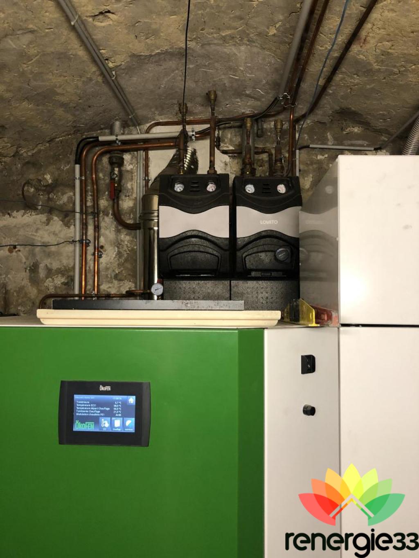 Entretien chaudière à granulés de bois OKOFEN PELLEMATIC 56 kW - Artisan RGE Qualibois