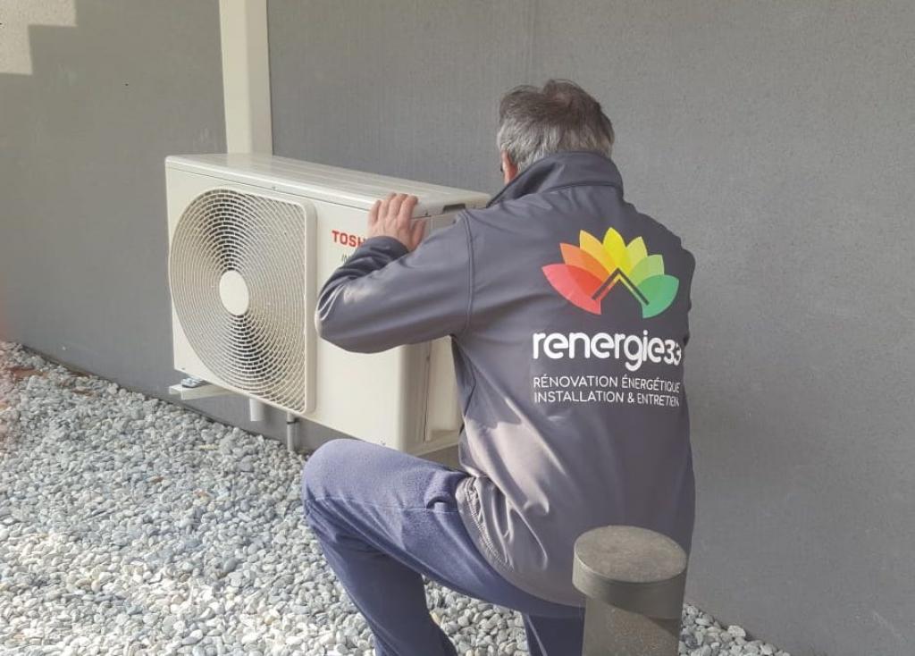 Installation d'une climatisation réversible (PAC air/air, pompe à chaleur air/air) TOSHIBA