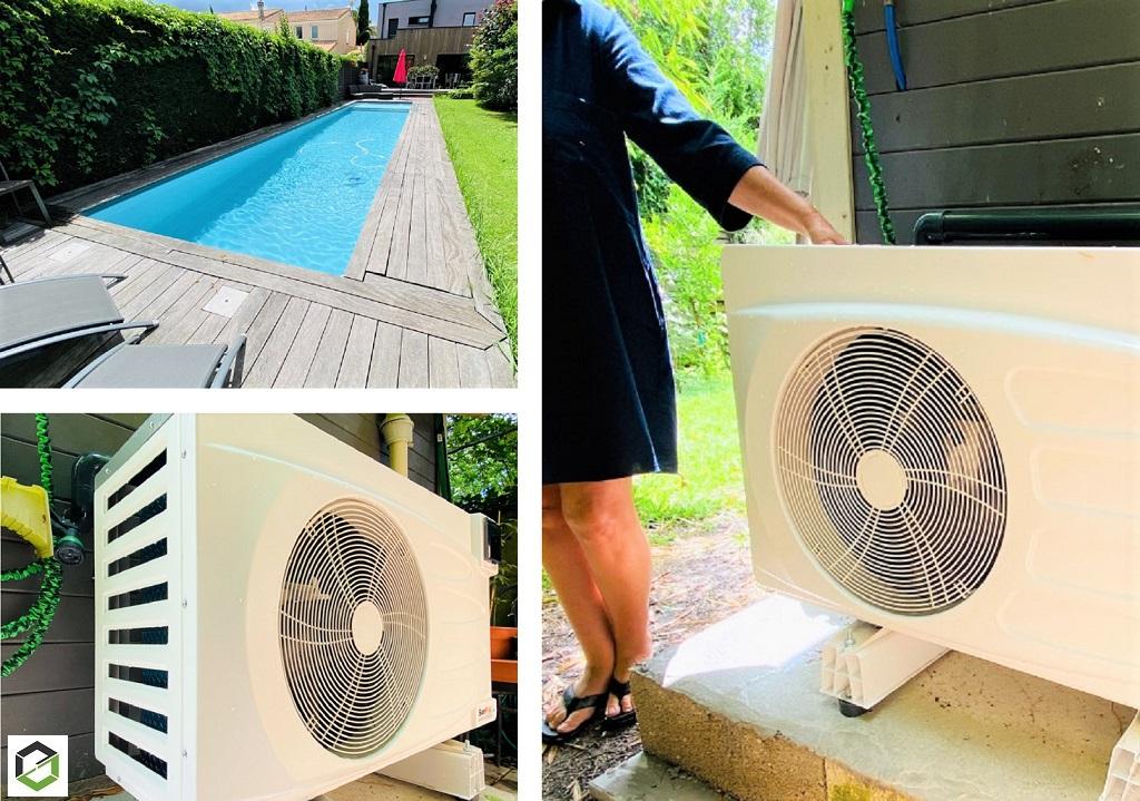 Installation d'une pompe à chaleur pour chauffer une piscine