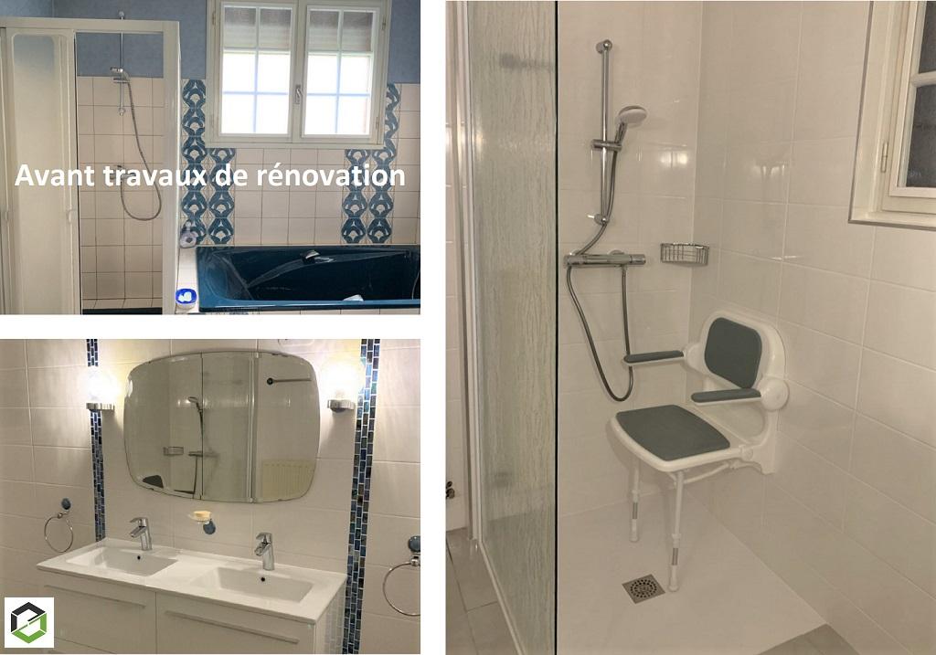 Réalisation d'une douche à mobilité réduite en remplacement d'une baignoire