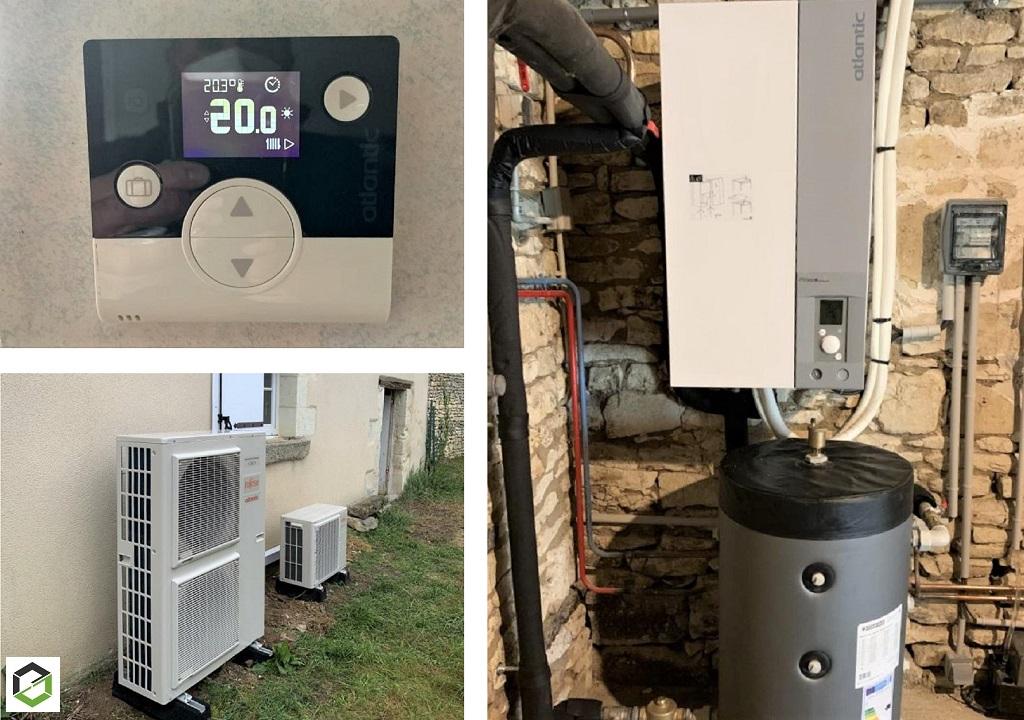 Installation d'une pompe à chaleur Air/Eau Atlantic