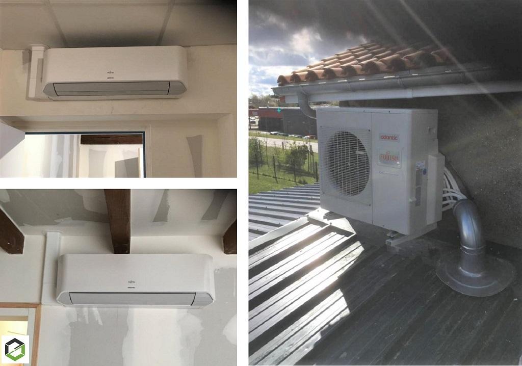 Entreprise RGE QualiPAC - Installation d'une climatisation réversible (pac air/air) Atlantic