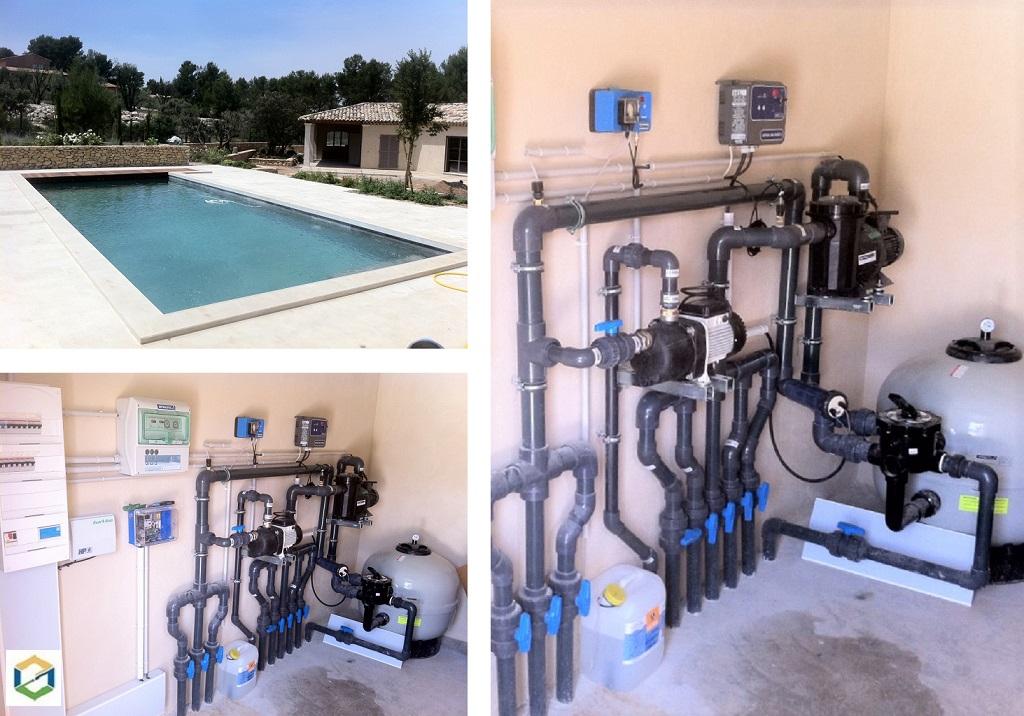 Installation filtration de piscine