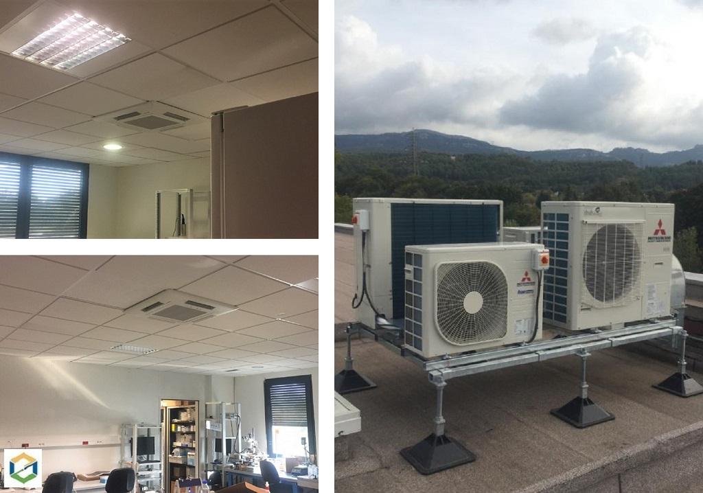 Installation de climatisations sur le Campus Universitaire Georges Charpak