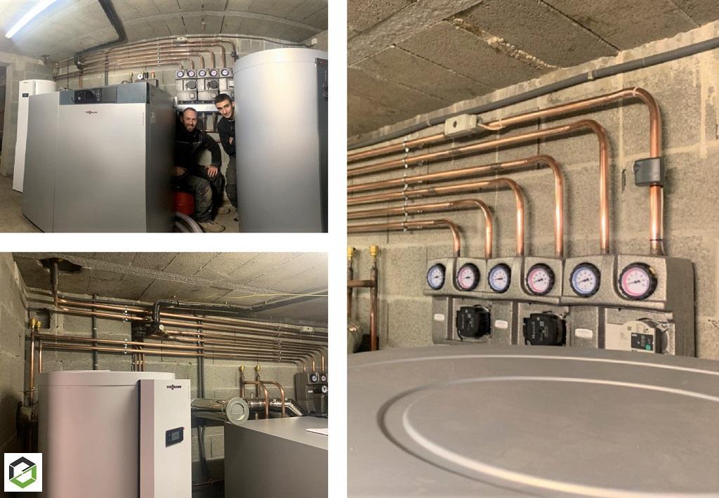 Installation d'une chaudière à Granulés Viessmann Vitoligno 300-C de 24KW