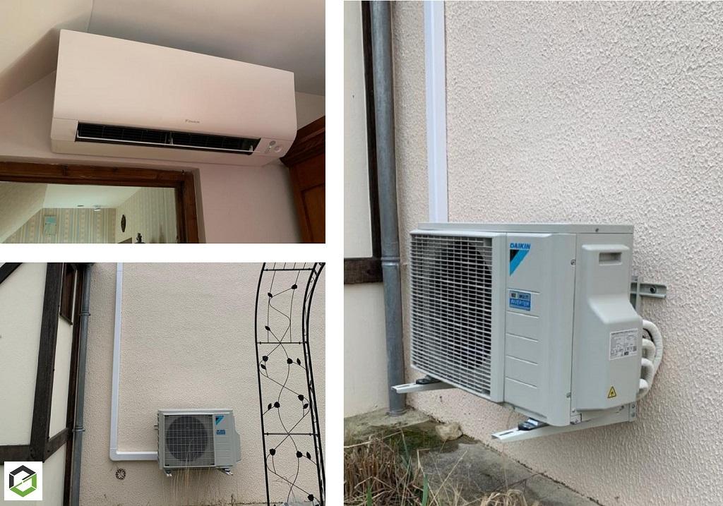 Installation climatisation réversible pompe à chaleur Air/Air Daikin
