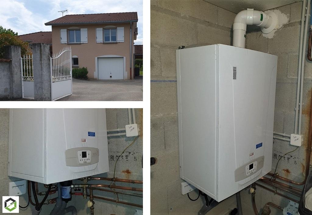 Remplacement d'une chaudière gaz à condensation