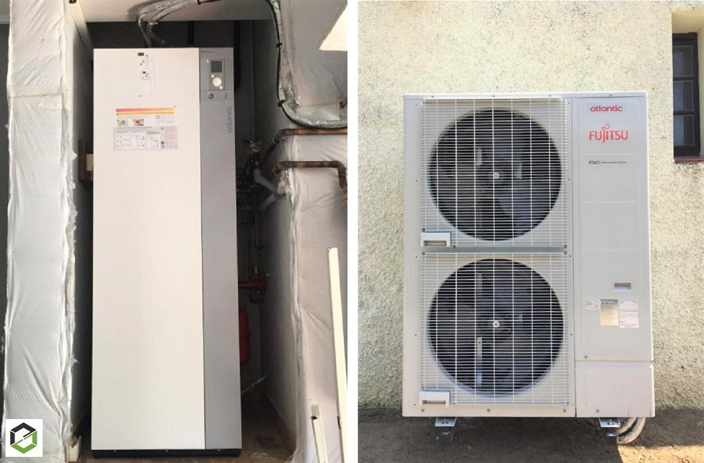 Installation Pompe à chaleur Air/Eau Atlantic