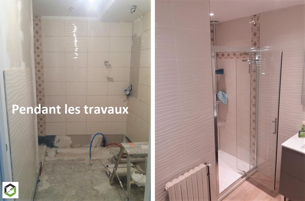 Rénovation salle de bain faïencé