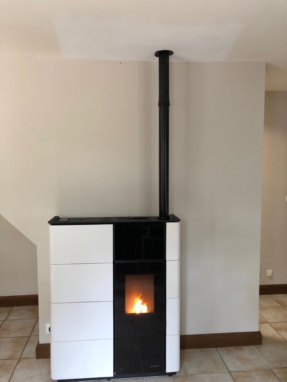 Installation d'un poêle à granulés de bois PALAZZETTI-Loiret (45)