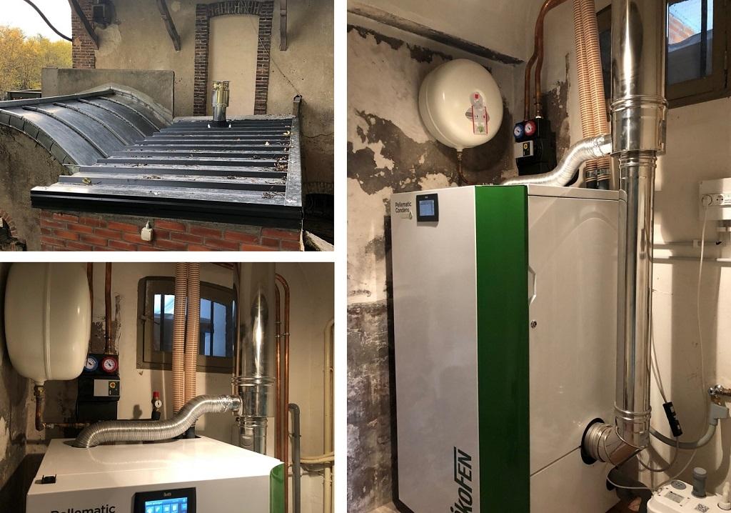 Installation de chaudière à granulés OkOFEN PELLEMATIC CONDENS-Loiret (45)