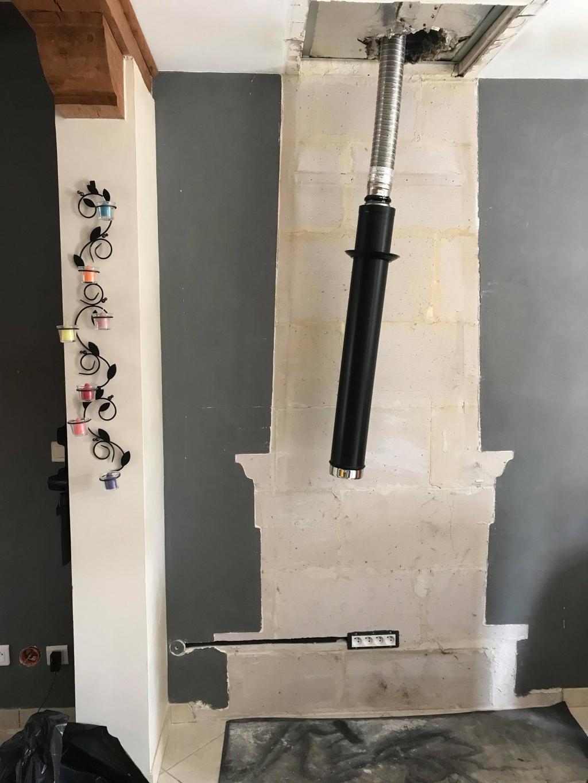 Installation de poêle à granulés PALAZZETTI