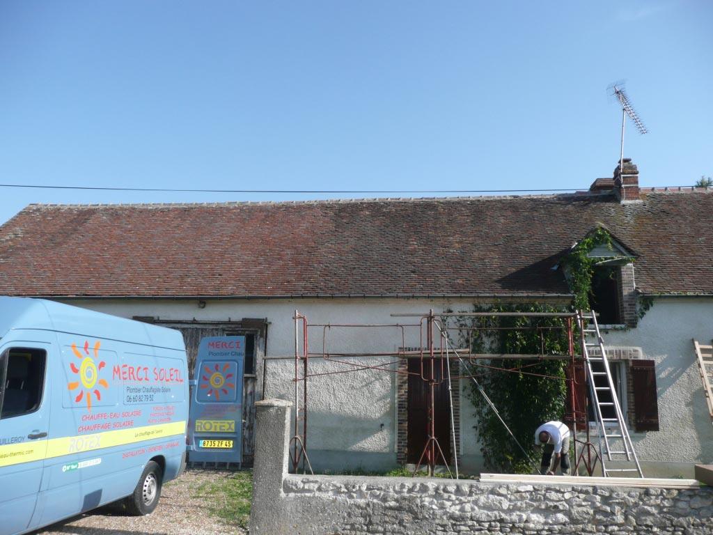Système solaire Weishaupt à Corquilleroy - 45 Loiret-Loiret (45)