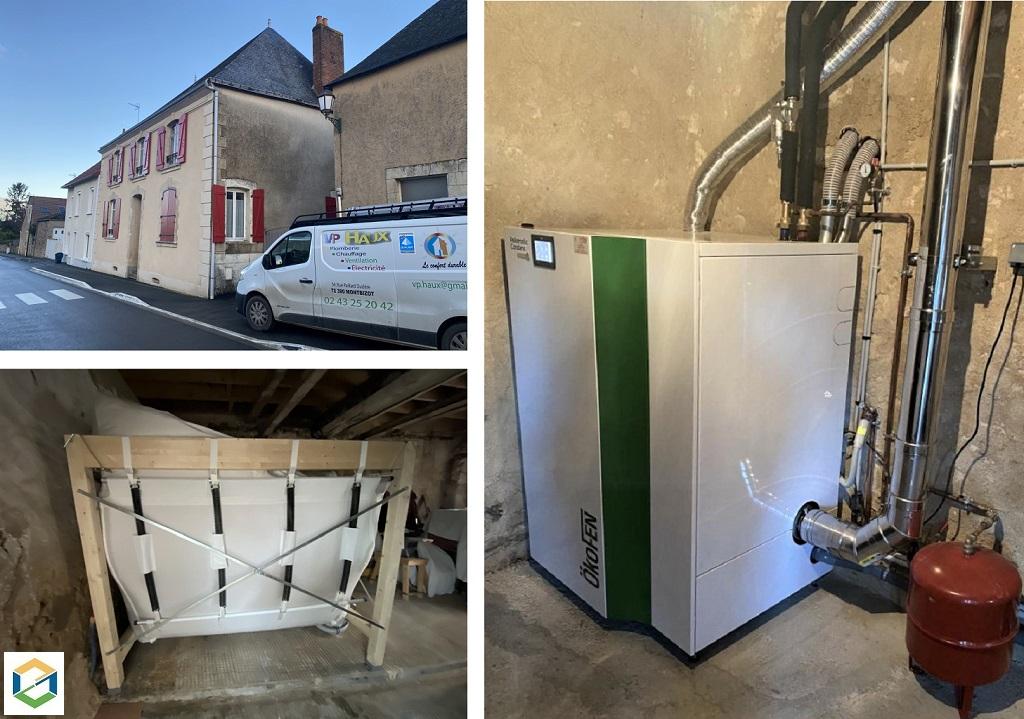 Installation chaudière granulés condensation 18kw