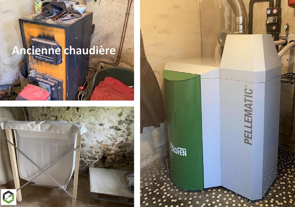 Entreprise RGE QualiBois - installation chaudière à granulé 25kw okofen-Sarthe (72)