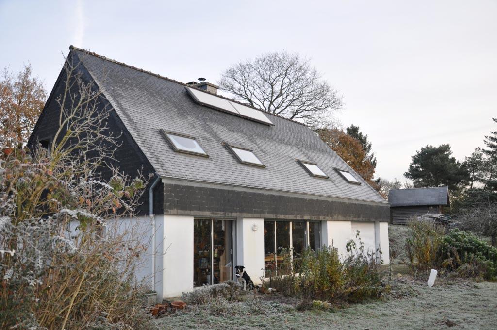 Poële à granulés hydro MCZ et d'un Chauffe eau Solaire Viessmann-Finistère (29)