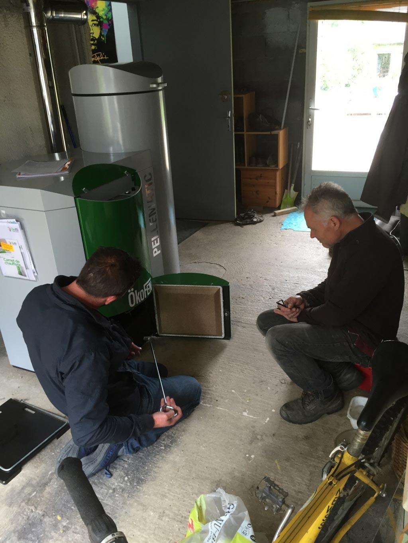 Installation d'une chaudière à granulés de bois (pellet) ÖkoFen-Côtes d'Armor (22)