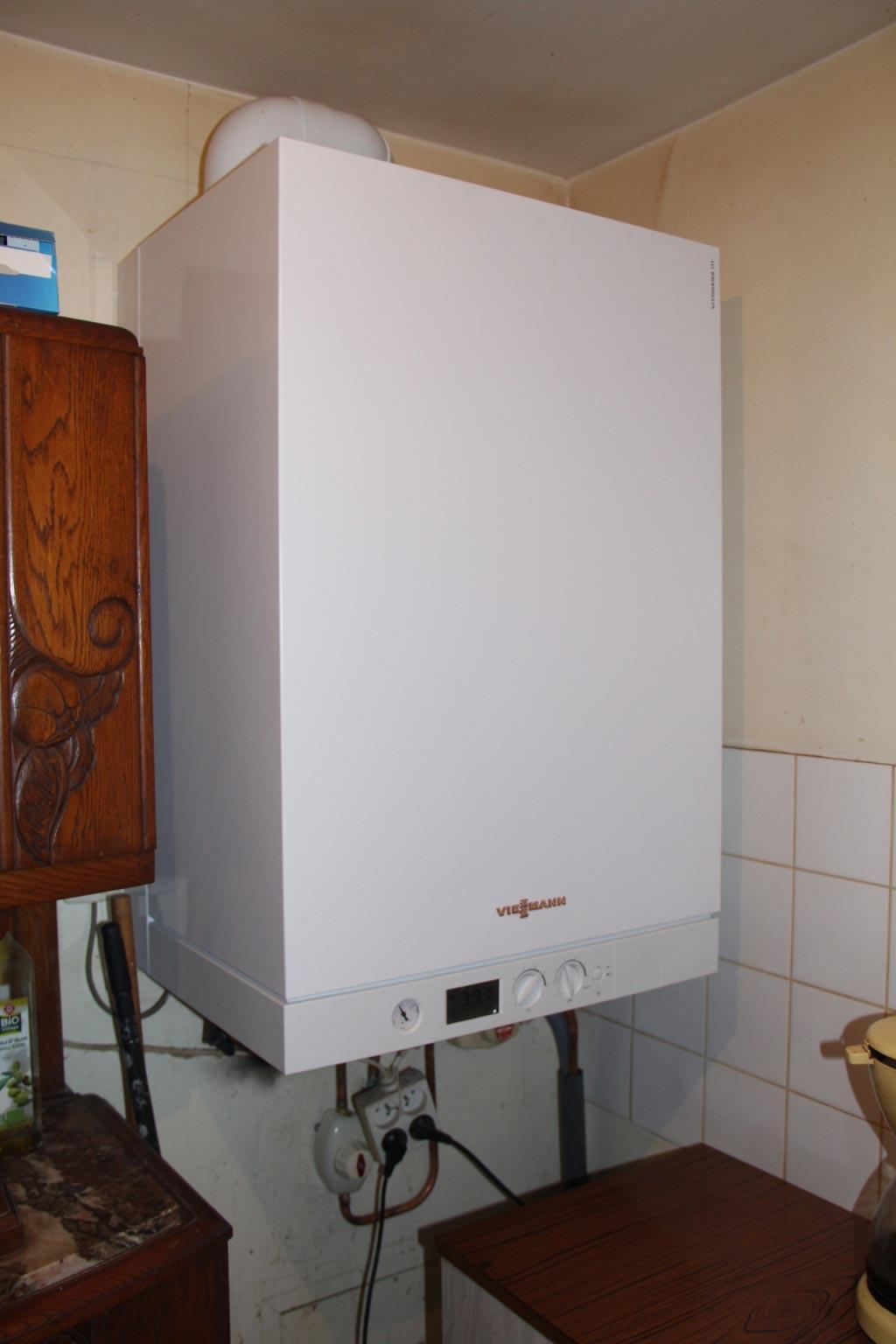 Installation d'une chaudière gaz à condensation Viessmann
