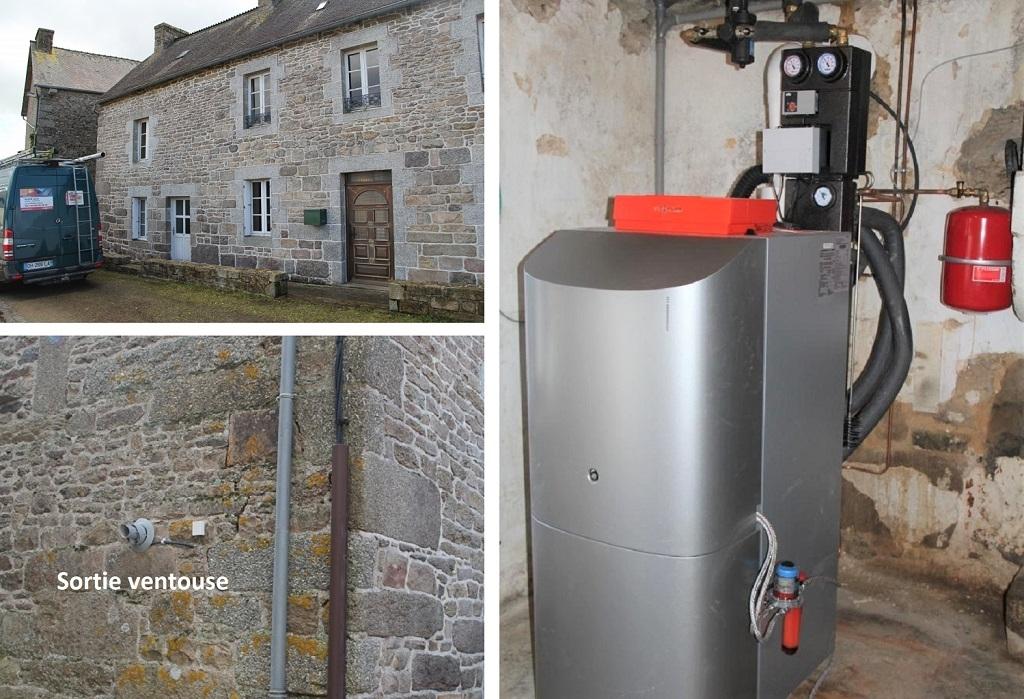 Installation d'une chaudière fioul à condensation en Centre Bretagne par installateur Qualifioul